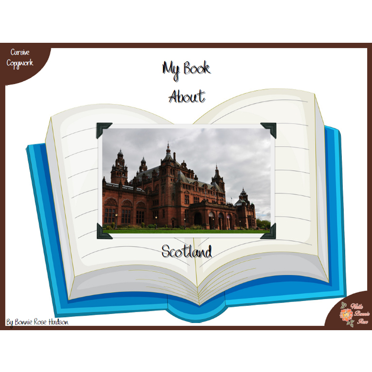 My Book About Scotland with Cursive Copywork (e-book)