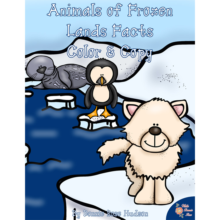 Animals of Frozen Lands Facts Color and Copy (e-book)