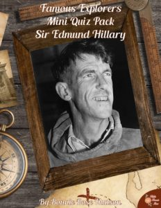Famous Explorers Mini Quiz Pack-Sir Edmund Hillary