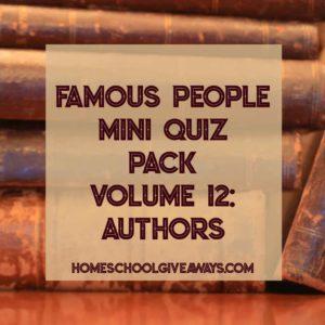 FREE Famous People Mini Quiz Pack Volume 12 – Authors