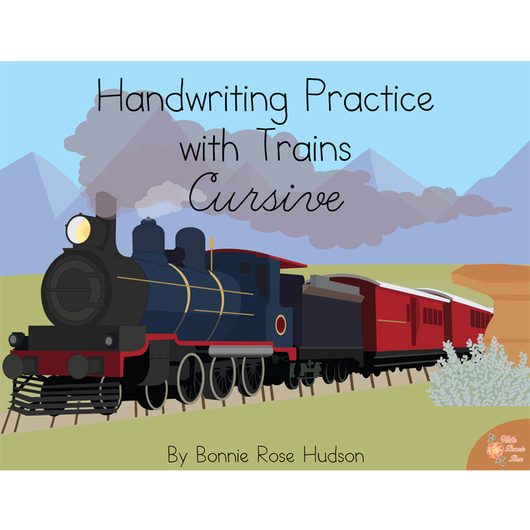Handwriting Practice with Trains: Print Style (e-book)
