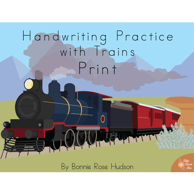 Handwriting Practice with Trains: Cursive Style (e-book)
