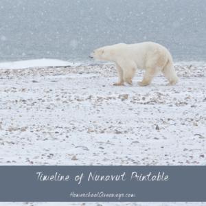 Timeline Worksheet: April 1, 1999, FREE Timeline of Nunavut History