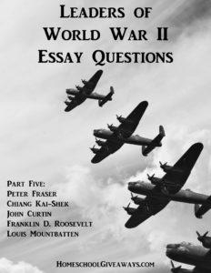 Leaders of World War II Essay Questions, Part Five
