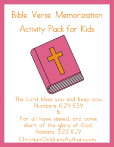 Bible Verse Activities for Kids-Numbers 6:24 and Romans 3:23