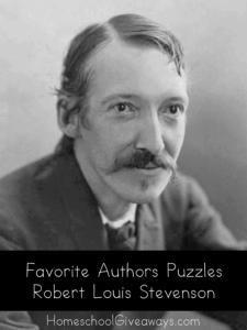 FREE Favorite Authors Puzzles-Robert Louis Stevenson