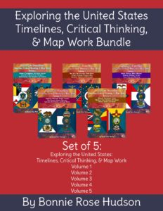 Exploring the United States Timelines, Critical Thinking, and Map Work Bundle