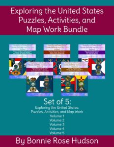 Exploring the United States Puzzles, Activities, and Map Work Bundle