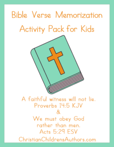Bible Verse Activities for Kids-Proverbs 14:5 and Acts 5:29