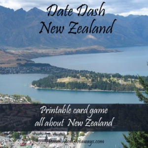 FREE Date Dash New Zealand History Card Game