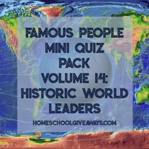 FREE Famous People Mini Quiz Pack Vol. 14 – Historic World Leaders