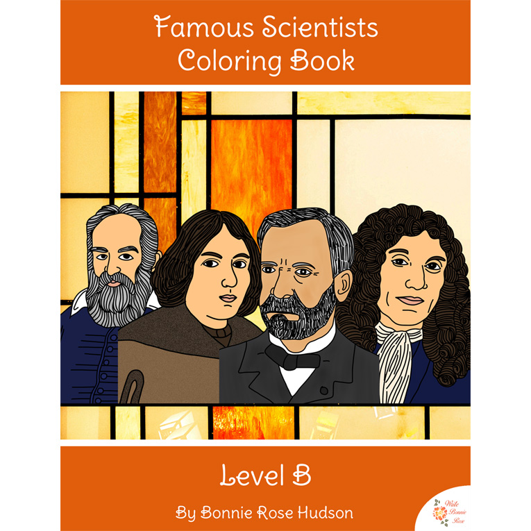 Famous Scientists Coloring Book-Level B (e-book)