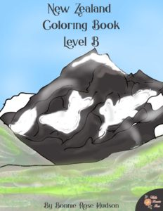 New Zealand Coloring Book, Level B
