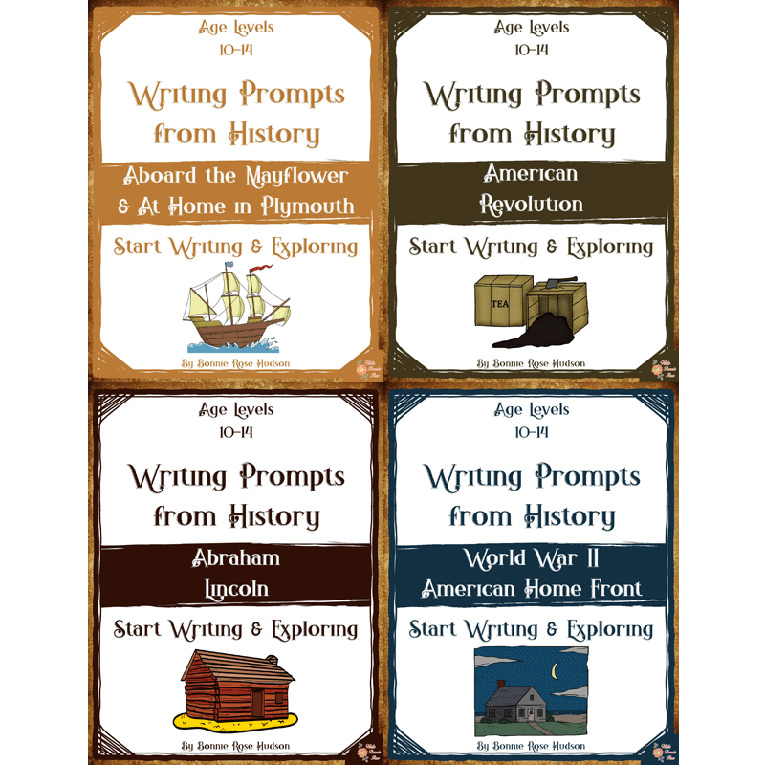 Writing Prompts About American History Bundle (Ages 10-14) (e-book)