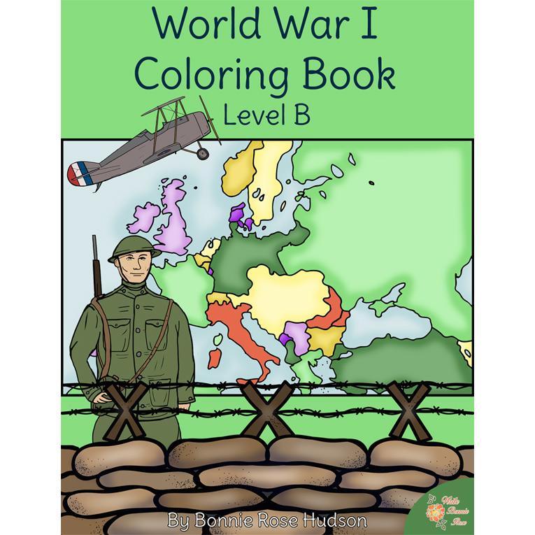 World War I Coloring Book-Level B (e-book)