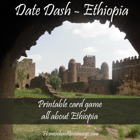 FREE Date Dash Ethiopia – Ethiopian History Card Game