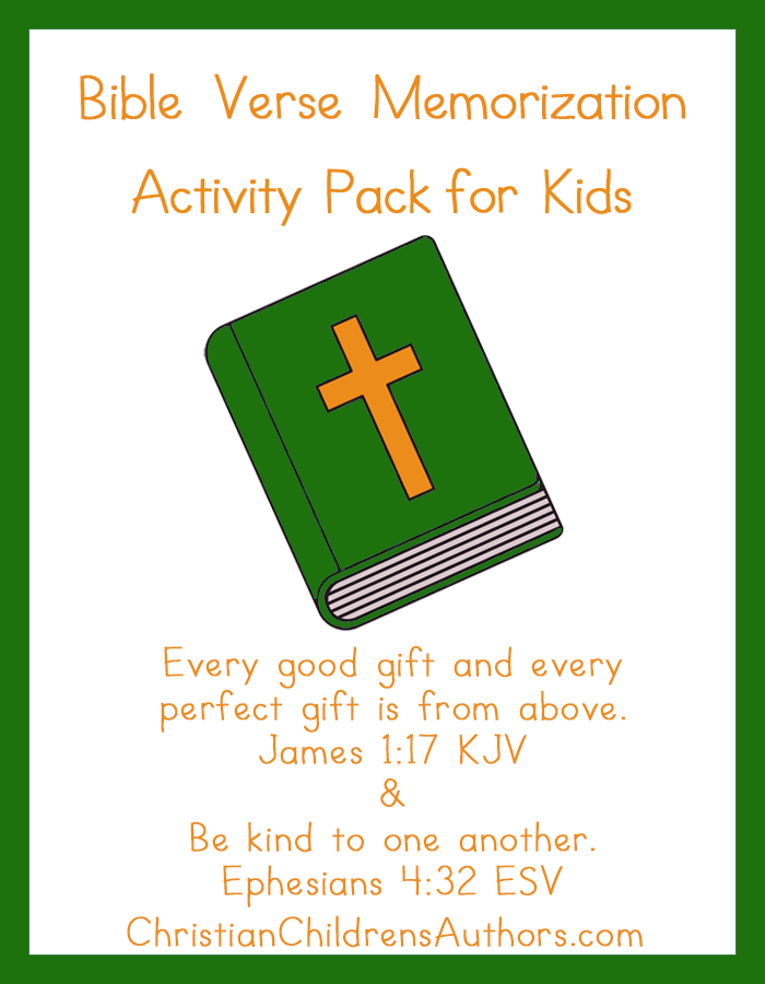 Bible Verse Activities for Kids-James 1:17 and Ephesians 4:32
