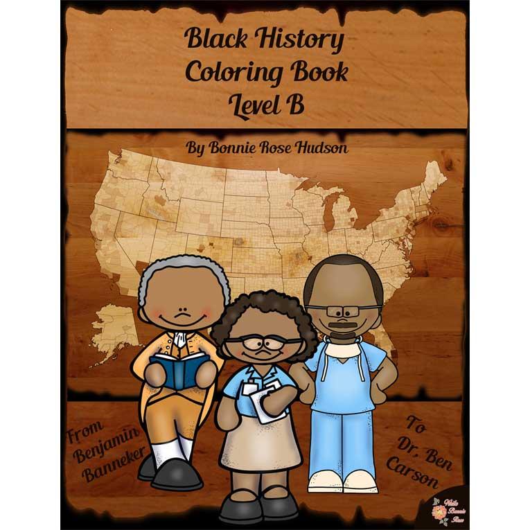 Black History Coloring Book-Level B (e-book)