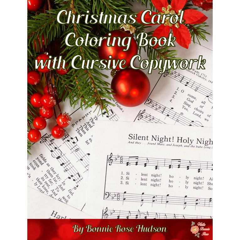 Christmas Carol Coloring Book with Cursive Copywork (e-book)