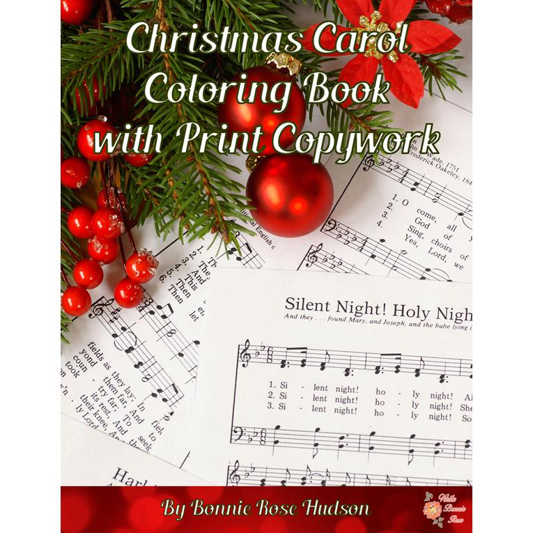 Christmas Carol Coloring Book with Print Copywork (e-book)