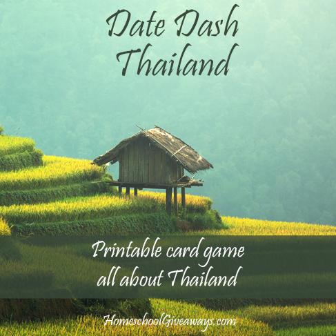 FREE Date Dash Thailand-Thai History Card Game