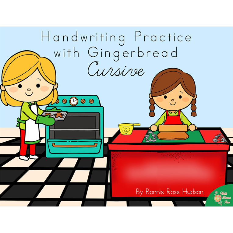 Handwriting Practice with Gingerbread: Cursive Style (e-book)