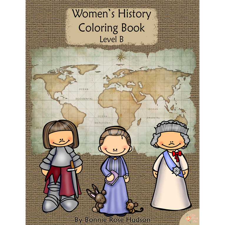 Women's History Coloring Book-Level B (e-book)