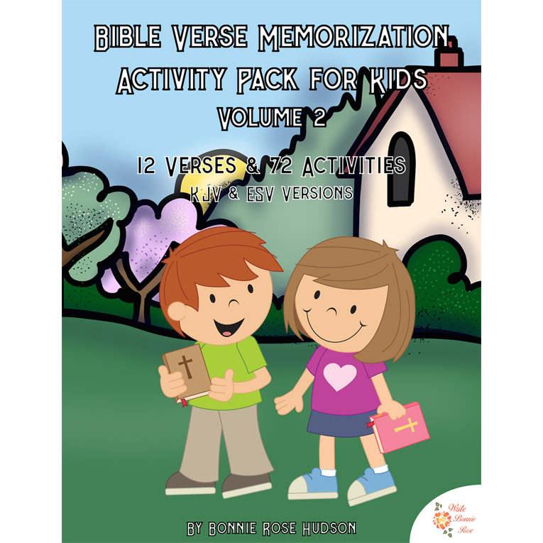 Bible Verse Memorization Activity Pack for Kids, Volume 2 (e-book)