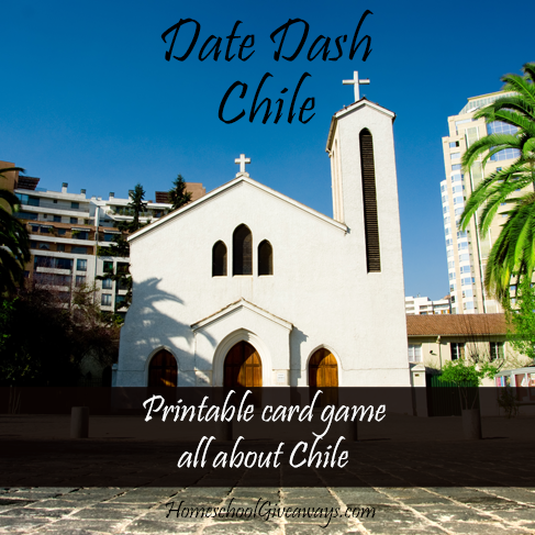 FREE Date Dash Chile-Chilean History Card Game