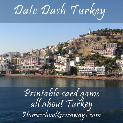 FREE Date Dash Turkey-Turkish History Card Game