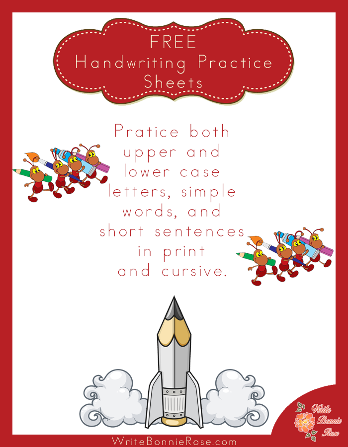 FREE Handwriting Practice Worksheets - WriteBonnieRose.com