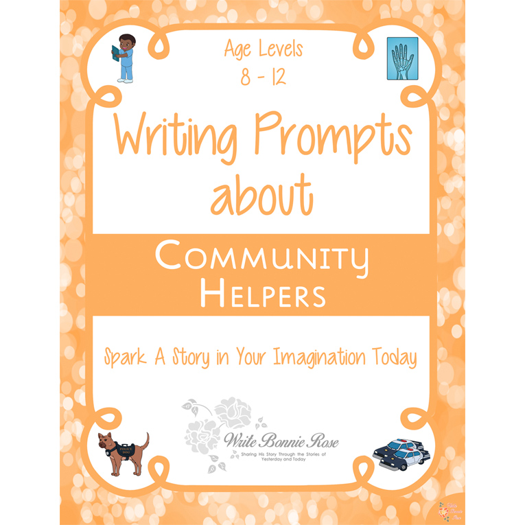 Writing Prompts About Community Helpers (e-book)