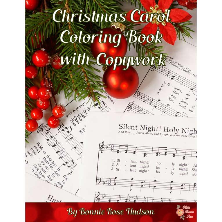 Christmas Carol Book.Christmas Carol Coloring Book With Copywork