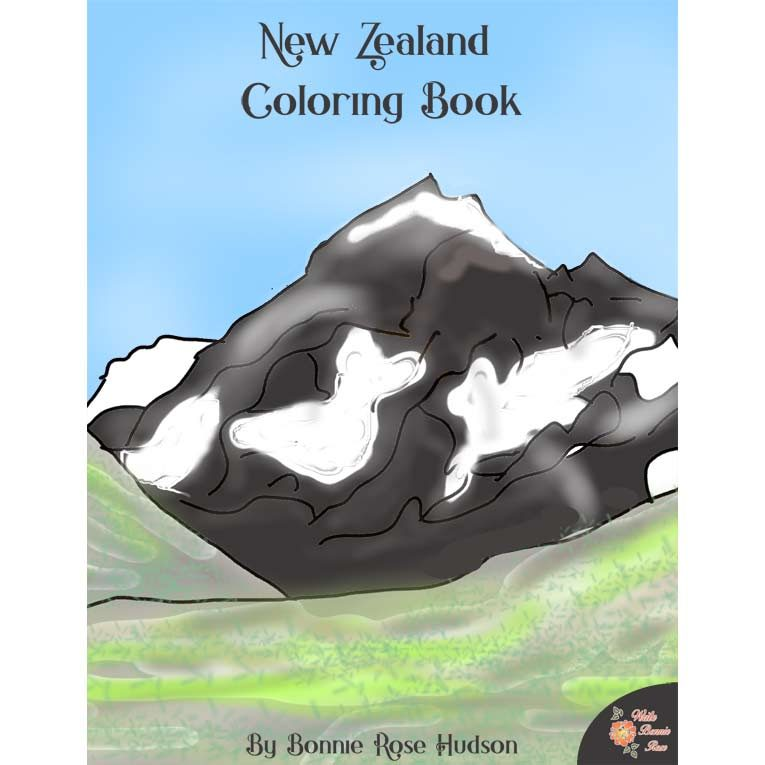 New Zealand Coloring Book-Level B or Level C