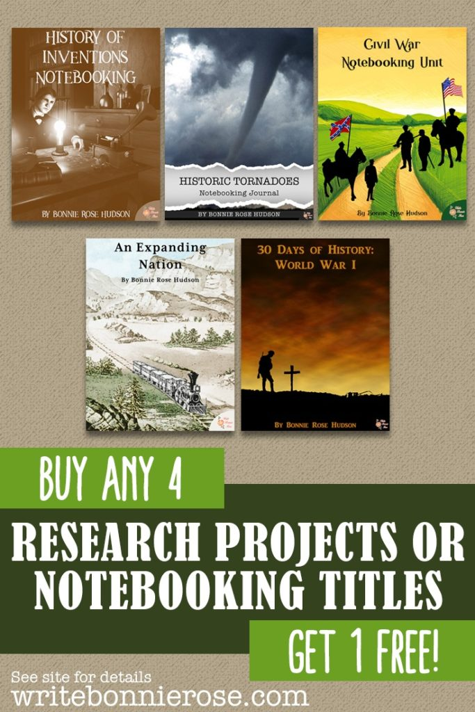 Save on Research Projects or Notebooking Titles