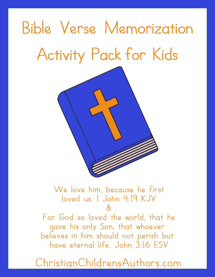 Bible Verse Activities for Kids-I John 4:19 and John 3:16