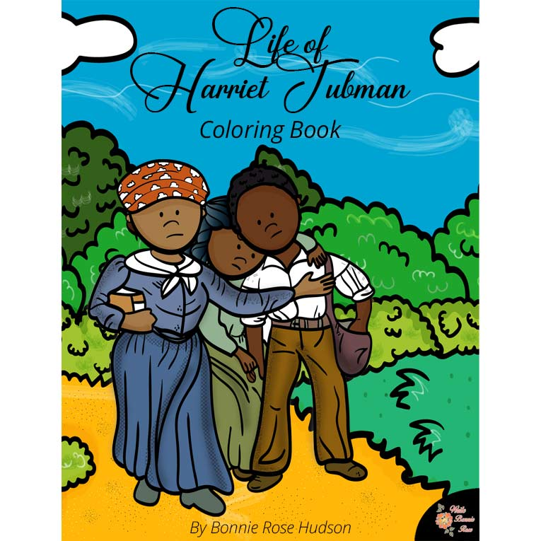 Life of Harriet Tubman Coloring Book-Level B or C