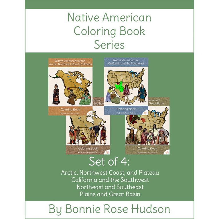 - Native American Coloring Book Series - WriteBonnieRose.com